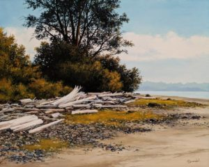 """Heron Beach,"" by Merv Brandel 16 x 20 - oil $2525 Unframed"