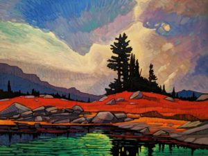 "SOLD ""Invigorating Mountain Light,"" by Nicholas Bott 30 x 40 - oil $6060 Unframed"