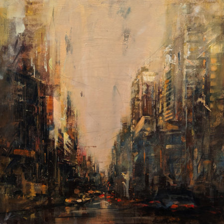 "SOLD ""After Raining,"" by William Liao 24 x 24 - acrylic $2000 Unframed $2700 in show frame"