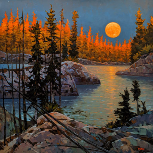 """Moon Rise,"" by Graeme Shaw 48 x 48 - oil $6735 (thick canvas wrap)"