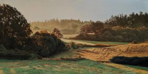 """Morning Light,"" by Ron Parker 18 x 36 - oil $3700 Unframed"