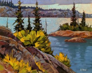 """Outlook (nameless lake, N.W.T.)"" by Graeme Shaw 16 x 20 - oil $1265 Unframed"