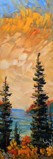 """Pacific Rim, Near Port Renfrew,"" by Rod Charlesworth 12 x 36 - oil $2230 Unframed"