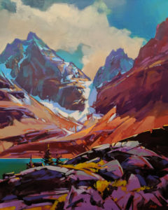 """Passing Thunderstorm (Lake Oesa Cirque, B.C.)"" by Mike Svob 24 x 30 - acrylic $4560 Unframed"