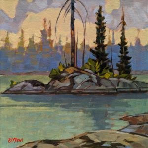 "SOLD ""Pickerel Point,"" by Graeme Shaw 10 x 10 - oil $570 Unframed"