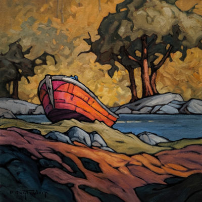 "SOLD ""A Quiet Cove,"" by Phil Buytendorp 16 x 16 - oil $1420 Unframed $1810 in show frame"