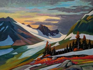 "SOLD ""Remote B.C. Mountain,"" by Nicholas Bott 36 x 48 - oil $7160 (thick canvas wrap)"