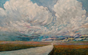 """Road East,"" by Steve Coffey 30 x 48 - oil $3430 Unframed"