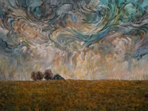 """Soft Storm Swirl,"" by Steve Coffey 30 x 40 - oil $3080 Unframed"