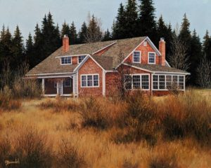 """The Summer House,"" by Merv Brandel 16 x 20 - oil $2525 Unframed"