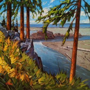 """Ucluelet Shores,"" by Graeme Shaw 20 x 20 - oil $1760 Unframed"