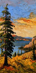 "SOLD ""Valley Vista, Okanagan"" by Rod Charlesworth 12 x 24 – oil $1715 Unframed"