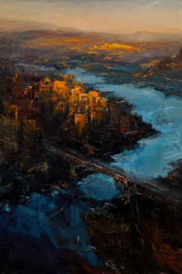 """Warm Embrace,"" by William Liao 24 x 36 - oil $2650 Unframed"