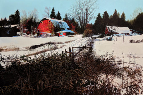 """""""After the Snowfall,"""" by Alan Wylie 32 x 48 - acrylic"""