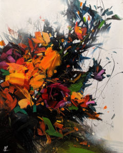 """SOLD """"Blossom Wind,"""" by William Liao 16 x 20 - acrylic $1120 Unframed $1510 in show frame"""