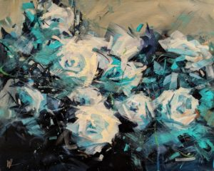 """Blue Rose,"" by William Liao 16 x 20 - acrylic $1235 Unframed"