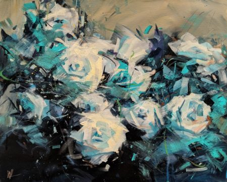 """""""Blue Rose,"""" by William Liao 16 x 20 - acrylic $1120 Unframed"""