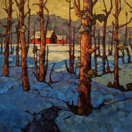"SOLD ""Cold Snap,"" by Phil Buytendorp 24 x 24 - oil $2020 Unframed $2535 in show frame"