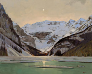 """Lake Louise Night,"" by Min Ma 24 x 30 - acrylic $4460 Unframed"