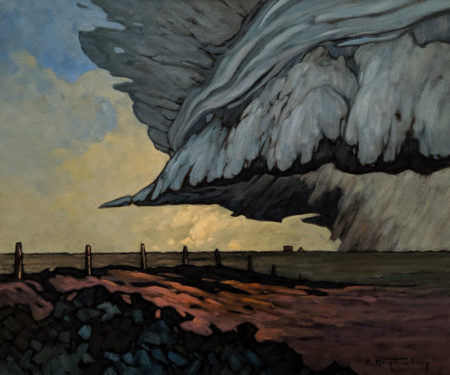 "SOLD ""Prairie Storm,"" by Phil Buytendorp 20 x 24 - oil $2000 Unframed $2385 in show frame"