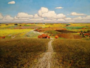 """Prairie Vista,"" by Min Ma 36 x 48 - acrylic $7440 (thick canvas wrap)"