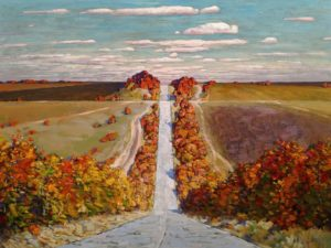 """A Trip in Autumn,"" by Min Ma 30 x 40 - acrylic $5510 Unframed"