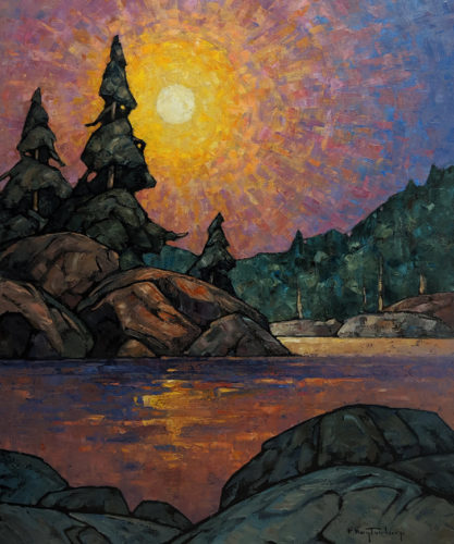 "SOLD ""Warm Dawn,"" by Phil Buytendorp 20 x 24 - oil $2000 Unframed $2385 in show frame"