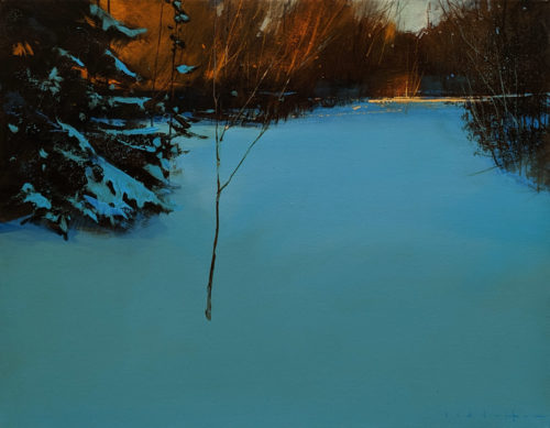 "SOLD ""Rabbits Run,"" by David Lidbetter 14 x 18 - oil $1475 Unframed"