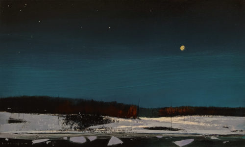 "SOLD ""Silent Night,"" by David Lidbetter 12 x 20 - oil $1475 Unframed"