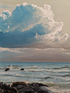 "SOLD ""Windy Shore,"" by Ron Parker 30 x 40 - oil $6600 Unframed"