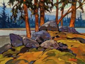 "SOLD ""Along Cayoosh Creek,"" by Graeme Shaw 9 x 12 - oil $580 Unframed $800 in show frame"
