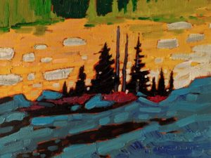 """Alpine Late Light,"" by Nicholas Bott 6 x 8 - oil $760 Unframed"