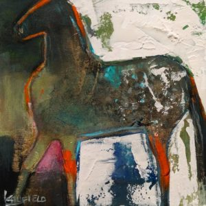 """Appaloosa,"" by Lee Caufield 6 x 6 - acrylic $325 (unframed panel with 1 1/2"" edges)"