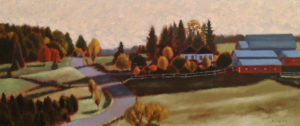 """Autumn Morning,"" by Paul Healey 8 x 19 - oil $650 Unframe"