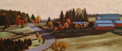 """""""Autumn Morning,"""" by Paul Healey 8 x 19 - oil $650 Unframed $925 in show frame"""