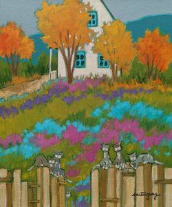 "SOLD ""The Beautiful Colourful Season..."" by Claudette Castonguay 10 x 12 - acrylic $390 Unframed $520 in show frame"