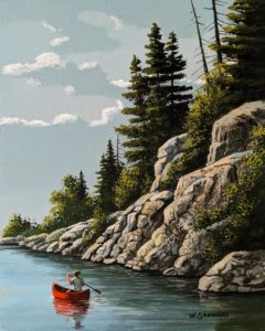 """Below the Rocks,"" by Bill Saunders 8 x 10 - acrylic $650 Unframed"