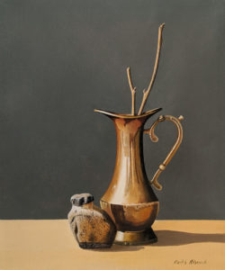 """Brass Pitcher,"" by Keith Hiscock 10 x 12 - oil $900 Unframed"