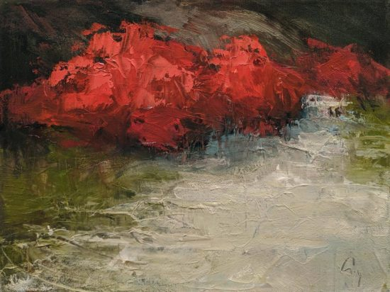 """Buisson Rouge"" (Red Bush) by Robert P. Roy 9 x 12 - oil $490 Unframed"