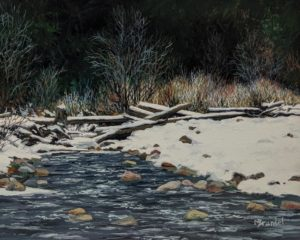 """Chilly Waters,"" by Merv Brandel 8 x 10 - oil $900 Unframed"