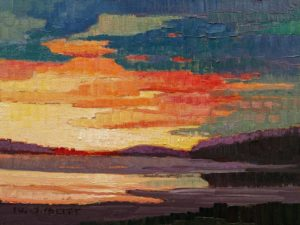 """Coastal Evening Sunset,"" by Nicholas Bott 6 x 8 - oil $760 Unframed"