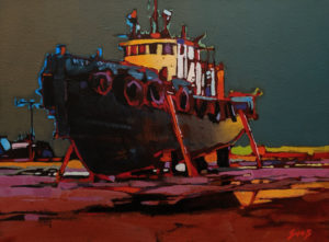 """Dartmouth Drydock,"" by Mike Svob 12 x 16 - acrylic $1415 Unframed"