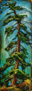 "SOLD ""Don't Leave Anything Out,"" by David Langevin 10 x 28 - acrylic $1275 Unframed"
