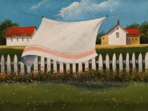 "SOLD ""A Drying Breeze,"" by Mark Fletcher 9 x 12 - acrylic $740 Unframed $960 in show frame"