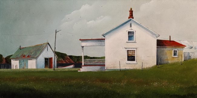 """A Fine Day in June,"" by Mark Fletcher 15 x 30 - acrylic $1925 Unframed"
