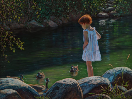 """Harmonious Summer Afternoon,"" by Don Li 18 x 24 - oil $5200 Unframed"
