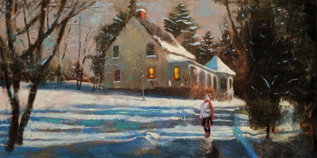 """Home,"" by Paul Healey 18 x 36 - oil $1975 Unframed"
