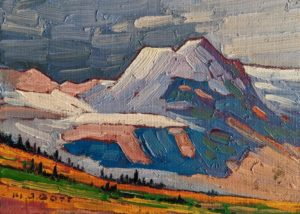 """Interior B.C. Mountain,"" by Nicholas Bott 5 x 7 - oil $550 Unframed"