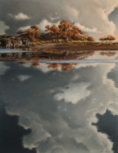 """Lagoon Sky,"" by Ray Ward 10 x 13 - oil $1225 Unframed"