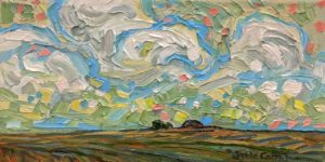 """Late Summer Clouds,"" by Steve Coffey 5 x 10 - oil $620 Unframed"